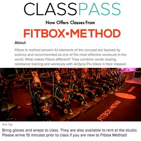 ClassPass Partners with Fitbox Method! ClassPass Members can now access Fitbox!